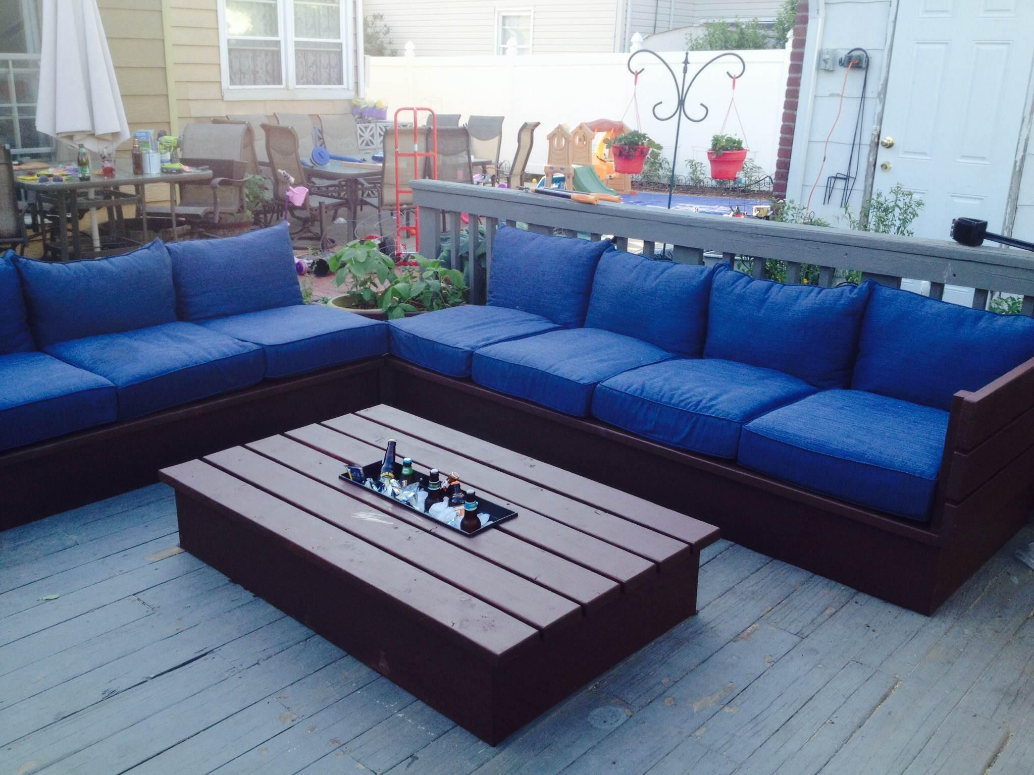 Ana White | Pallet Style Outdoor Platform Sectional (Variation Inside Ana White Outdoor Sectional Sofas (View 12 of 20)