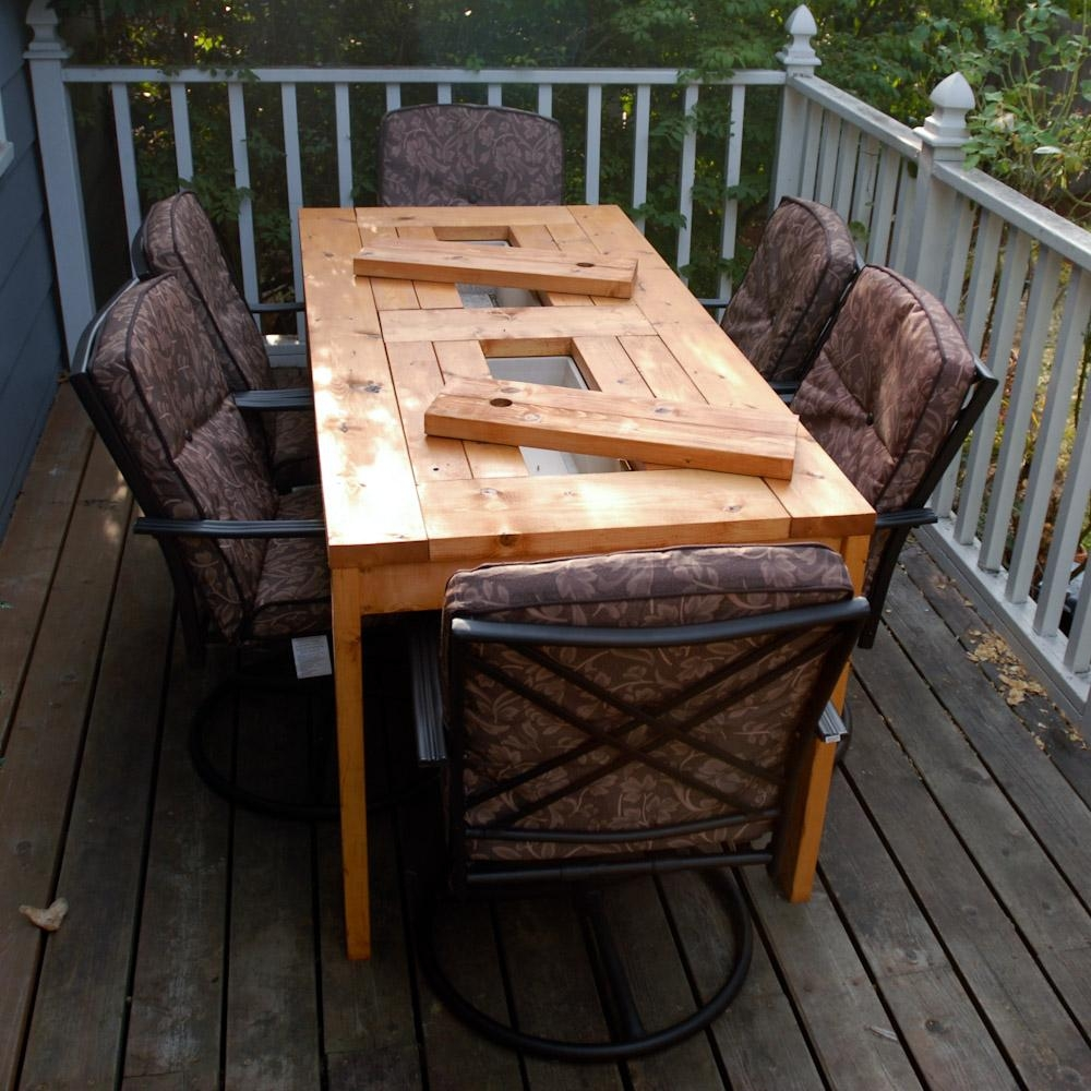 Ana White | Patio Table With Built In Beer/wine Coolers – Diy Projects Intended For Ana White Outdoor Sofas (View 20 of 20)