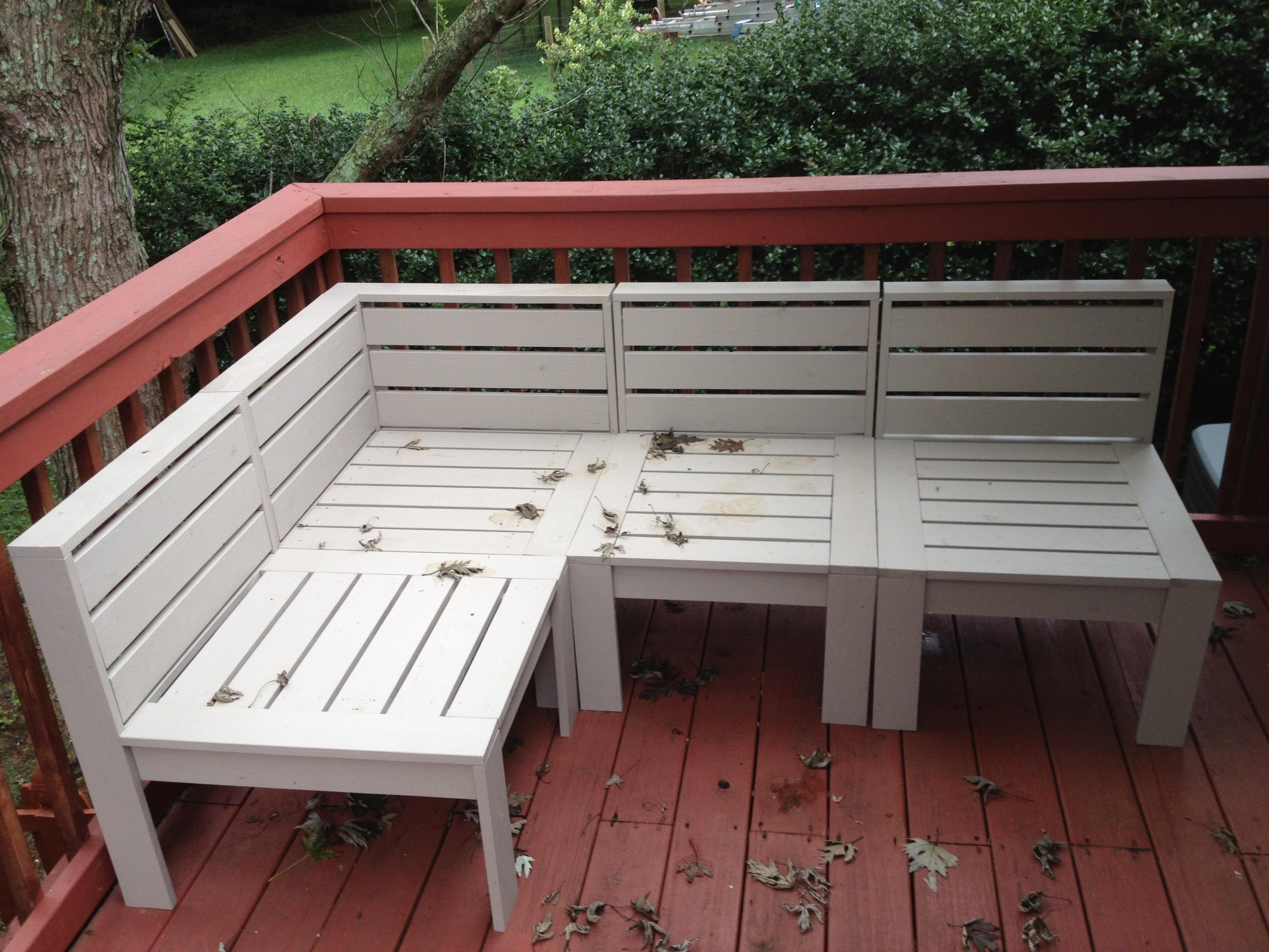 Ana White | Simple Modern Outdoor Sectional – Diy Projects With Ana White Outdoor Sectional Sofas (View 4 of 20)