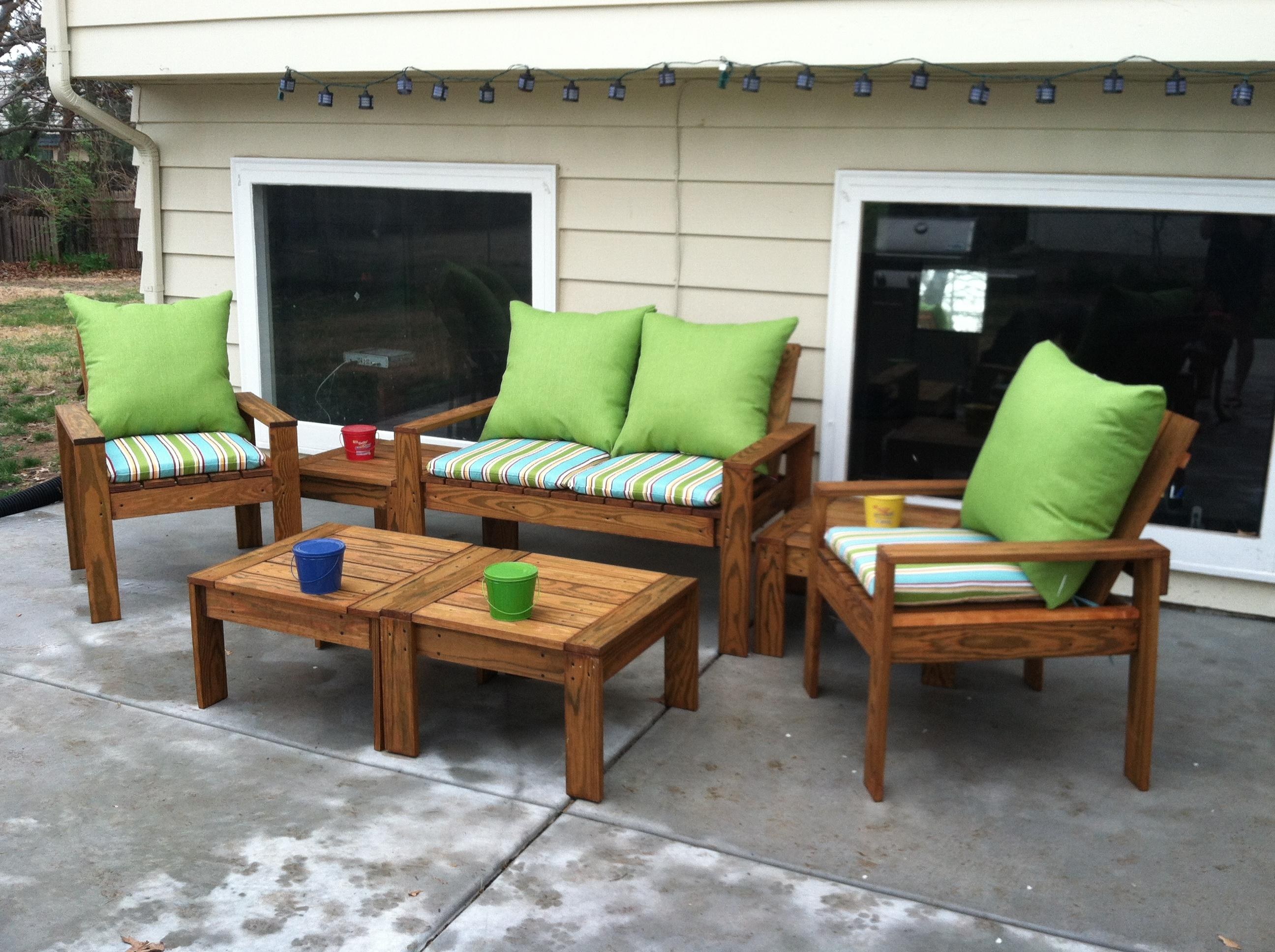 Ana White | Simple Outdoor Conversation Set – Diy Projects Regarding Ana White Outdoor Sofas (Image 15 of 20)