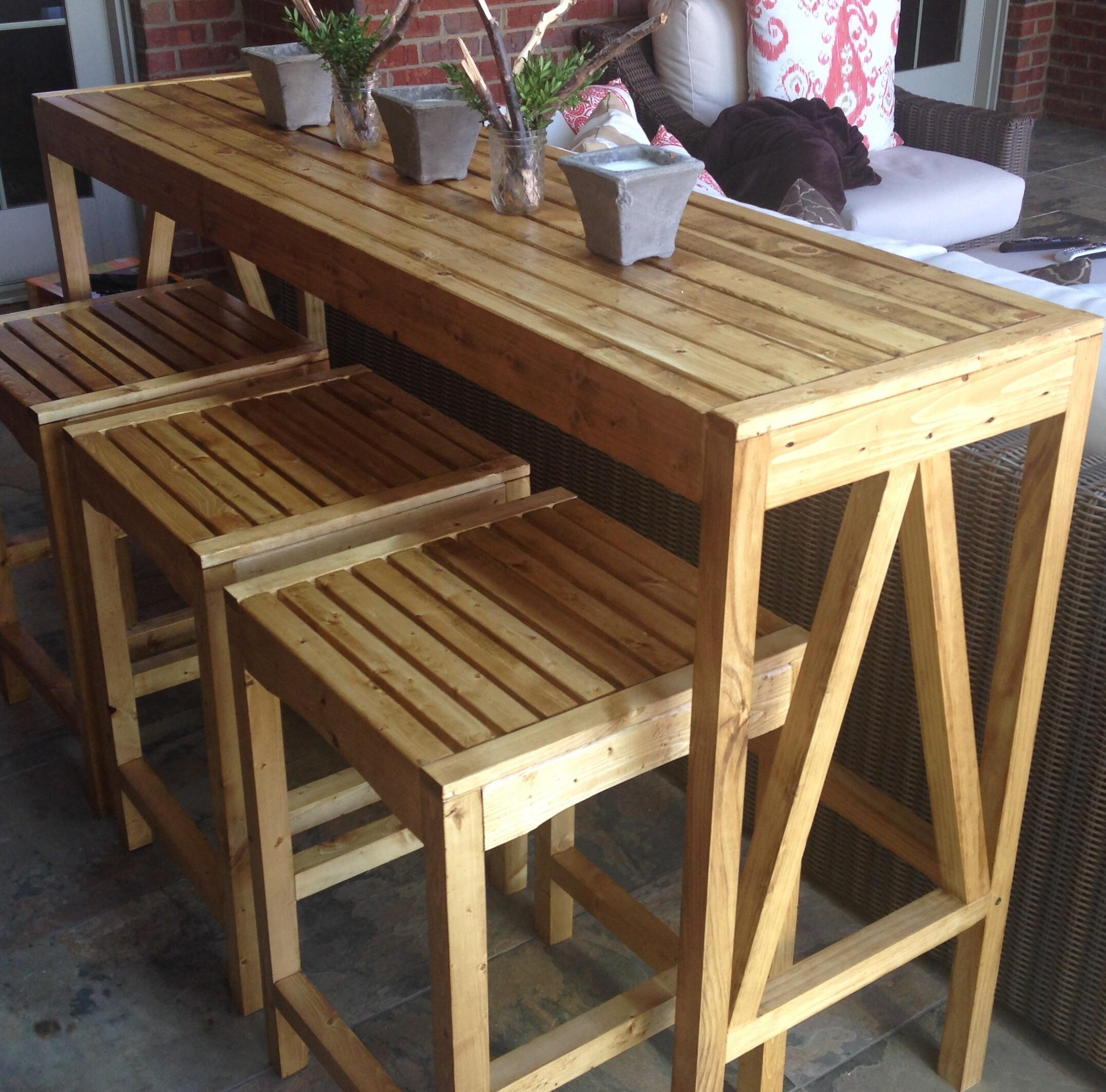 Ana White | Sutton Custom Outdoor Bar Stools – Diy Projects Throughout Ana White Outdoor Sofas (Image 17 of 20)
