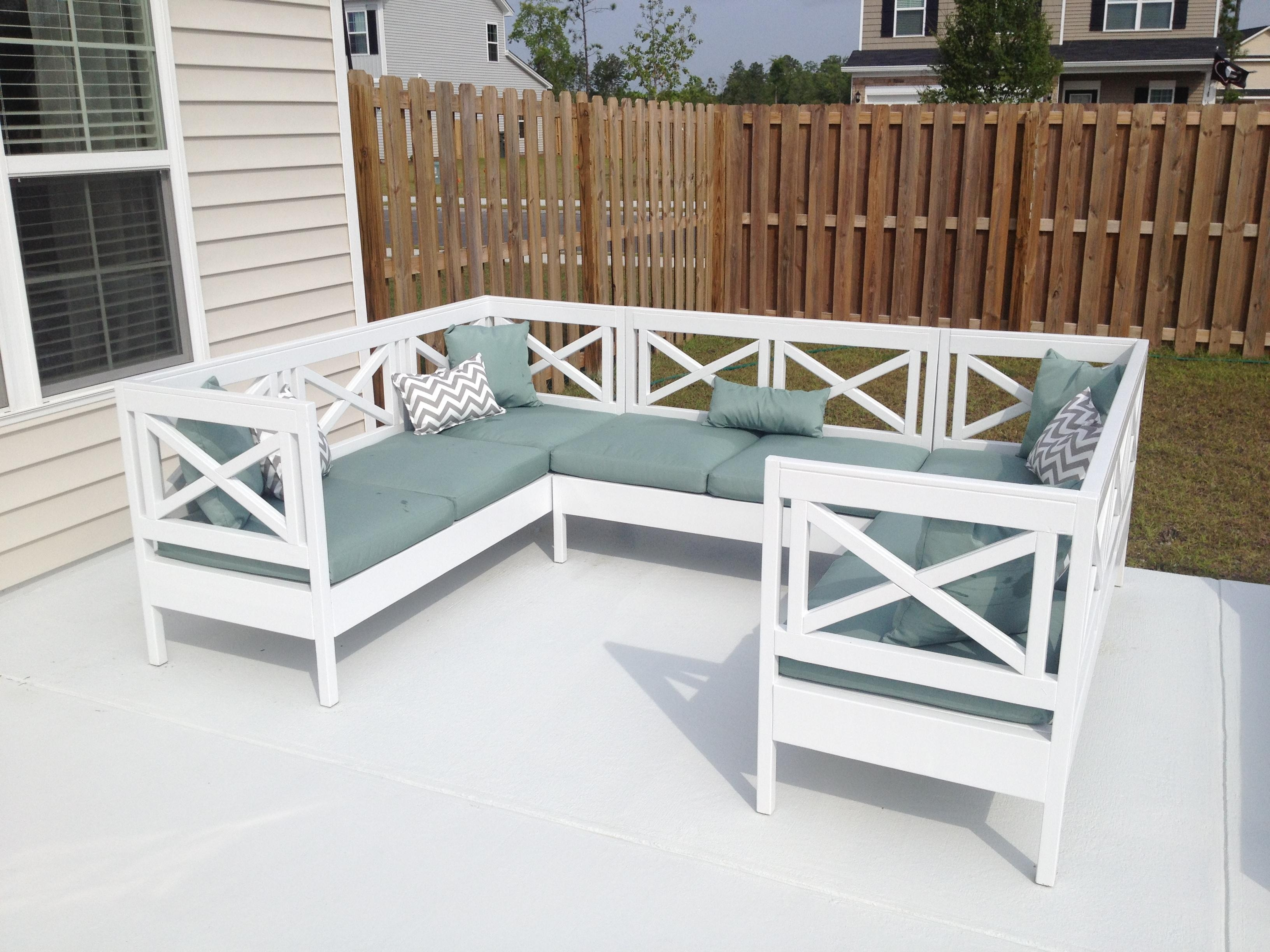 Ana White | Weatherly Outdoor Sectional! – Diy Projects Inside Ana White Outdoor Sectional Sofas (View 6 of 20)