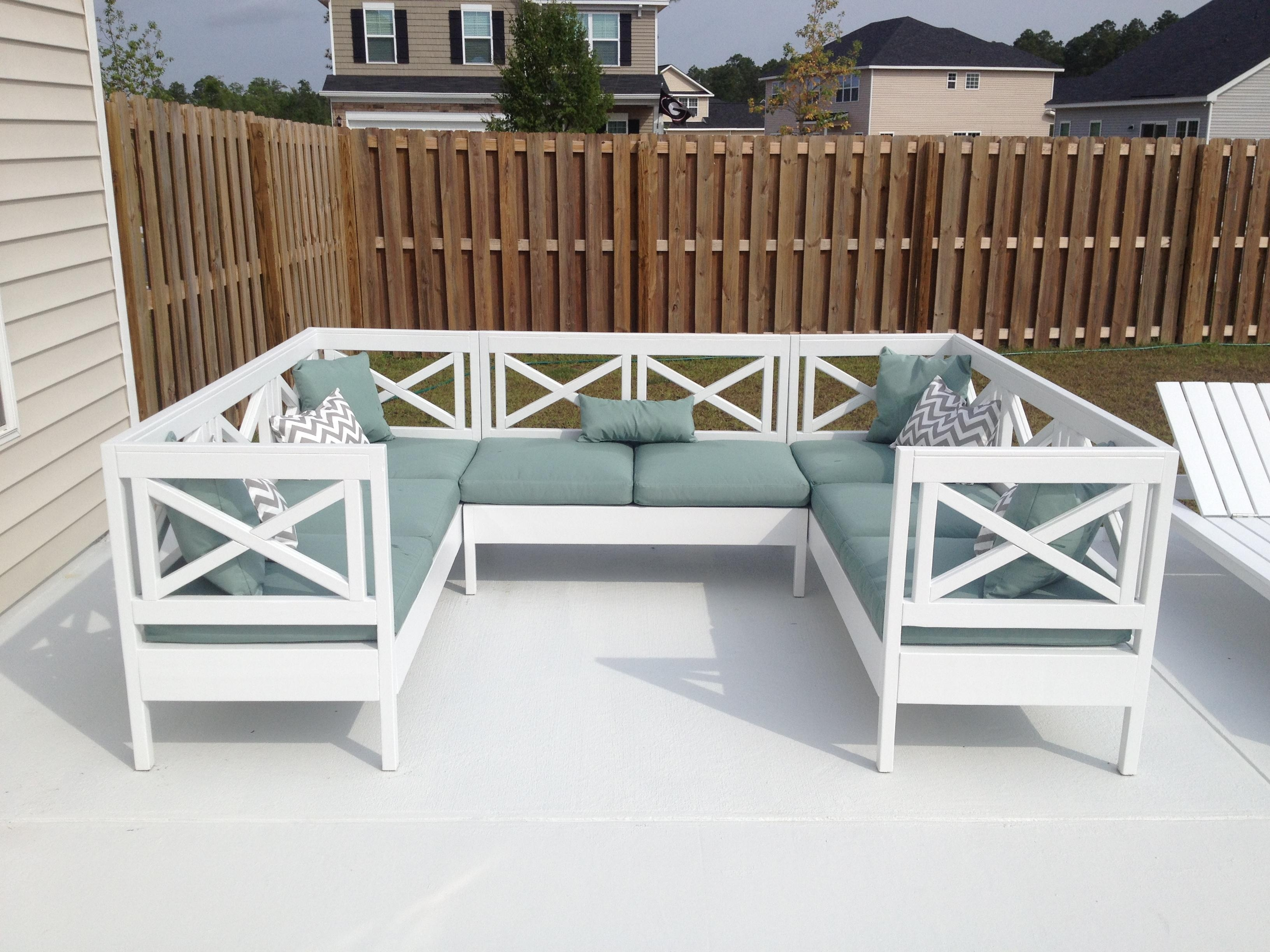 Ana White | Weatherly Outdoor Sectional! – Diy Projects Pertaining To Ana White Outdoor Sofas (View 10 of 20)