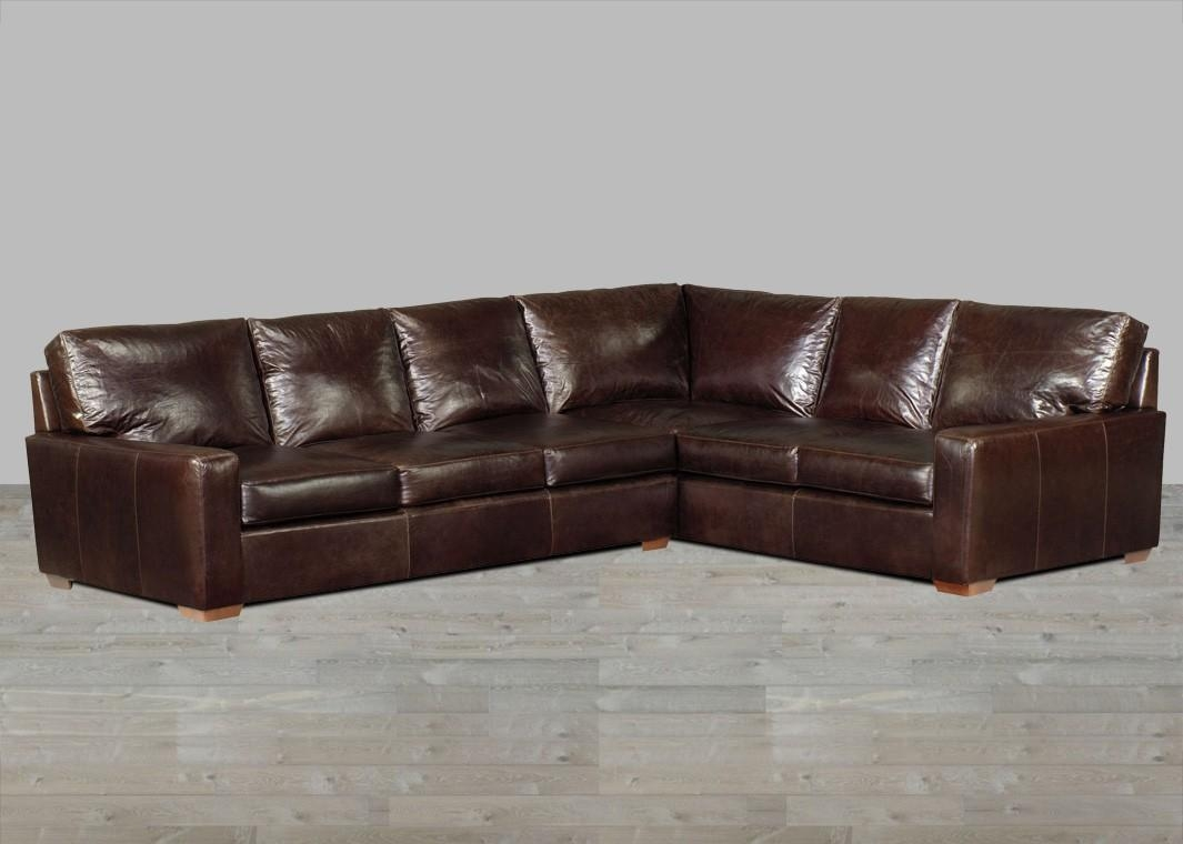 Anchor Bay Collection Top Grain Leather Ottoman In Brompton Inside Brompton Leather Sectional Sofas (Image 3 of 20)