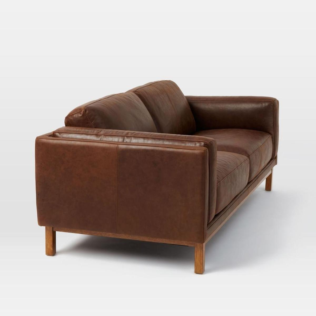 Aniline Leather Sofas John Lewis Halo Groucho Small Aniline Throughout Aniline Leather Sofas (Image 4 of 20)