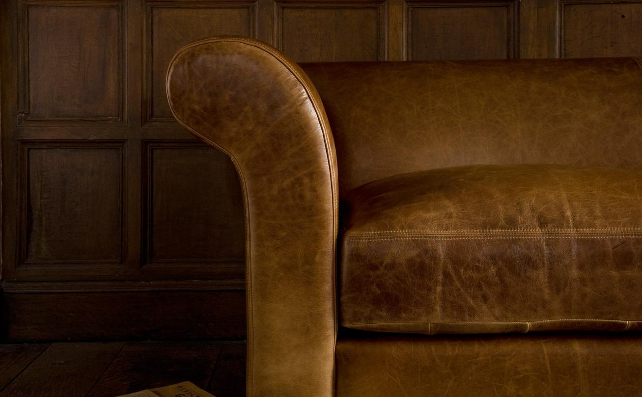 Aniline Leather Sofasindigo Furniture Regarding Aniline Leather Sofas (Image 7 of 20)
