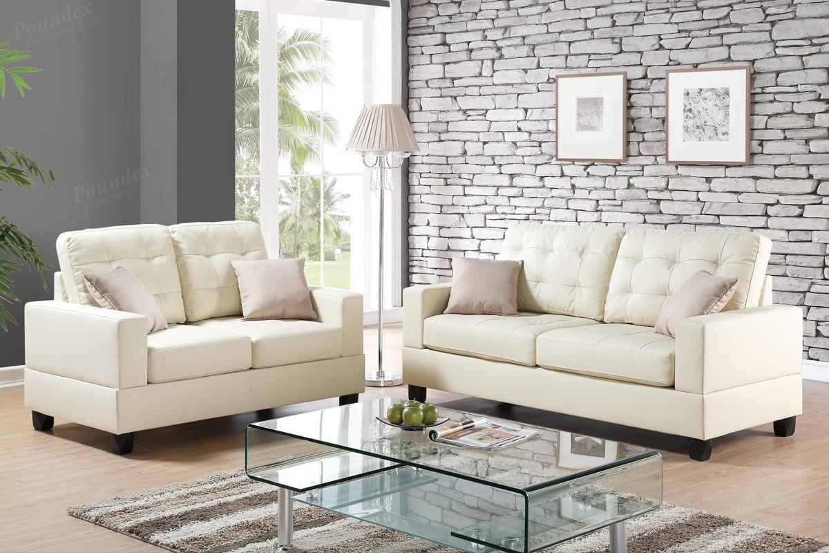 Anse Beige Leather Sofa And Loveseat Set – Steal A Sofa Furniture With Beige Leather Couches (Image 2 of 20)