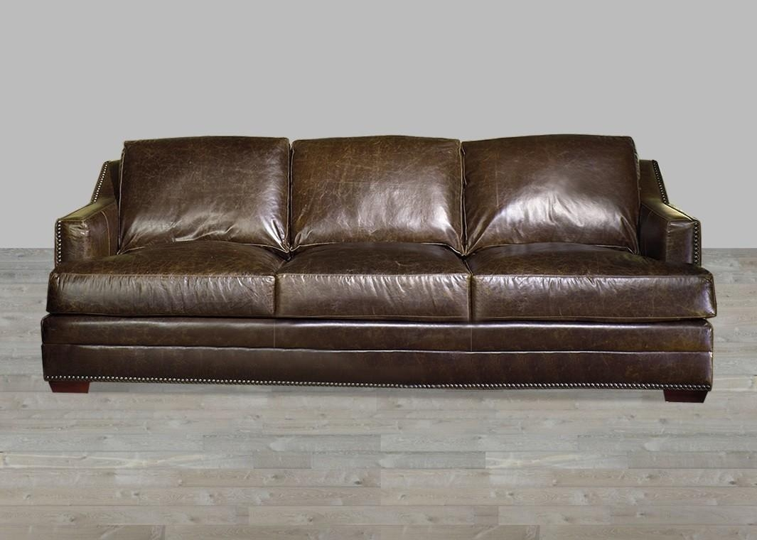 Antique Brown Aniline Leather Sofa Within Aniline Leather Sofas (Image 8 of 20)