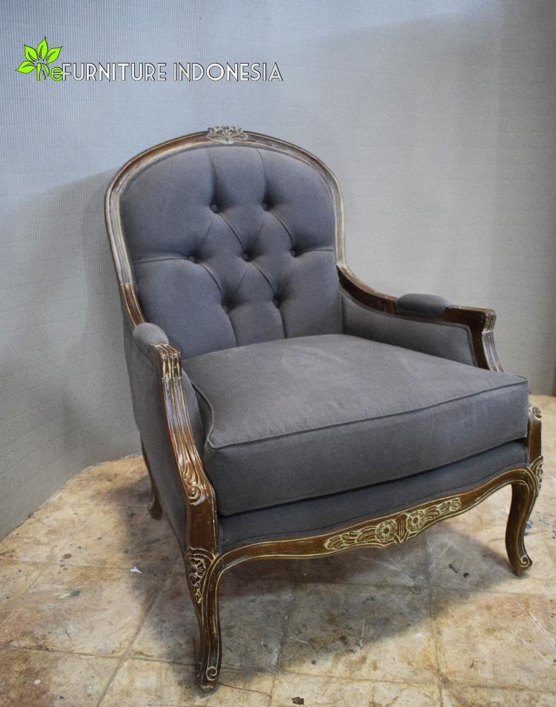 Antique Single Seater Wood Sofa Chairs Sectional Wood Frame Sofa With Antique Sofa Chairs (Image 3 of 20)