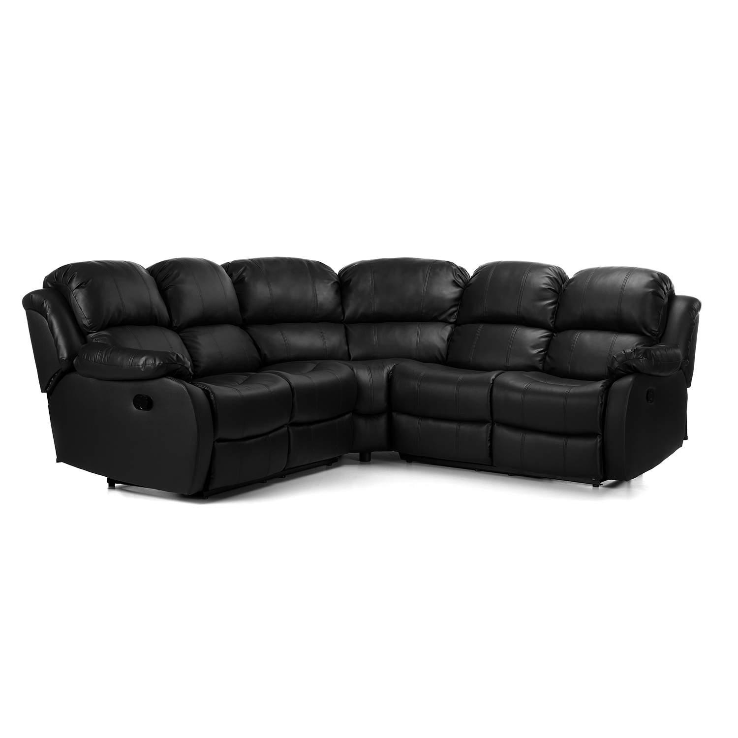 Anton Reclining Leather Corner Sofa – Next Day Delivery Anton Intended For Corner Sofa Leather (Image 1 of 20)