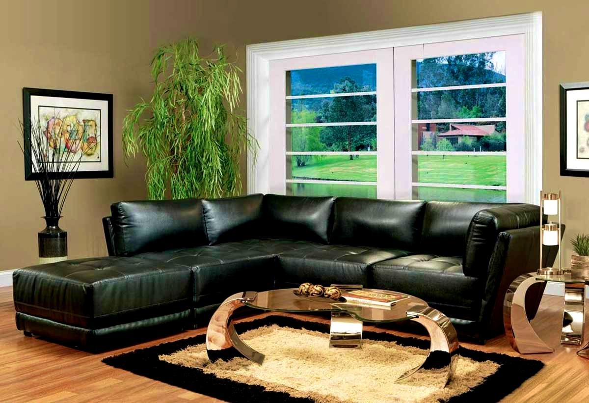 Apartments : Living Room Ideas With Black Sofa Small Living Room Inside Black Sofas For Living Room (Image 4 of 20)