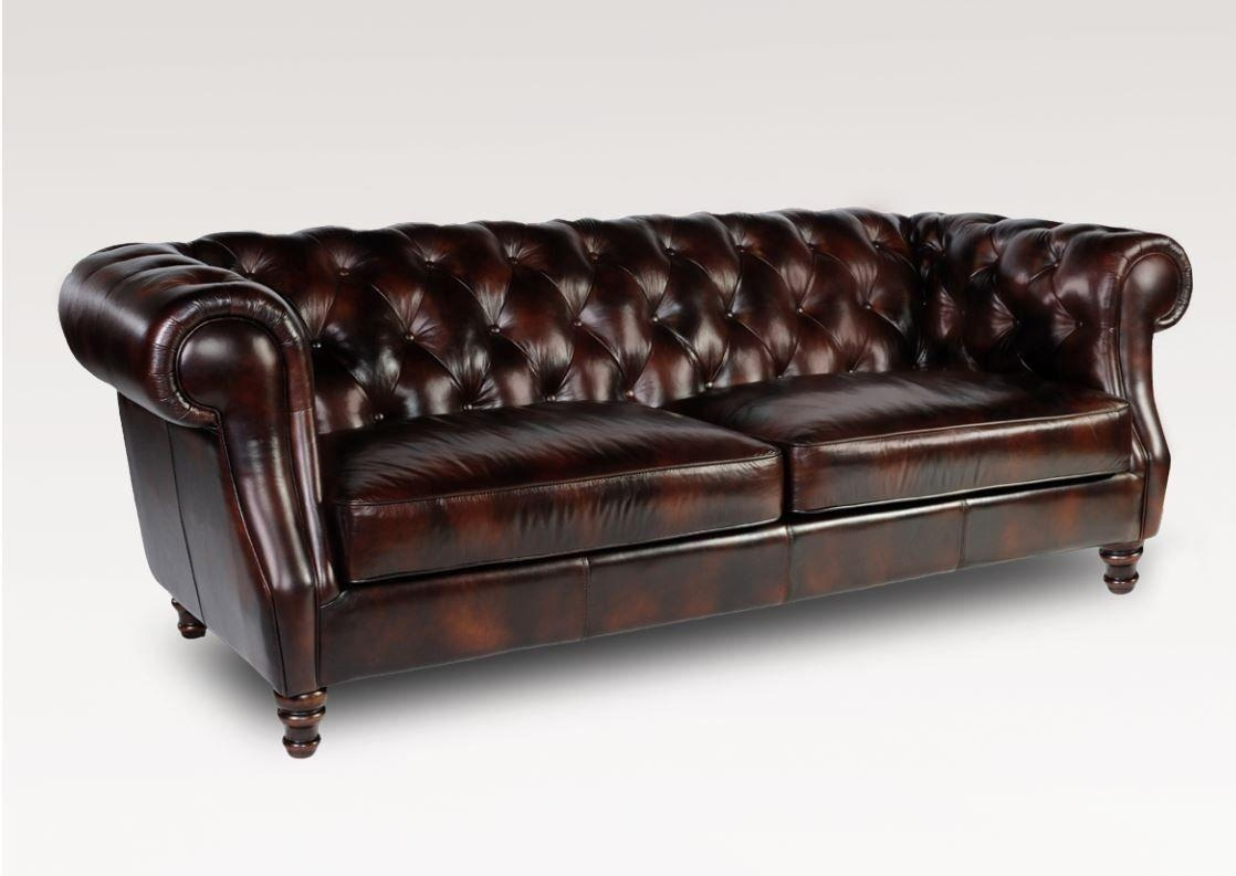 Appealing Brown Modern Chesterfield Sofa Interior Design Feature Regarding Brown Leather Tufted Sofas (Image 1 of 20)