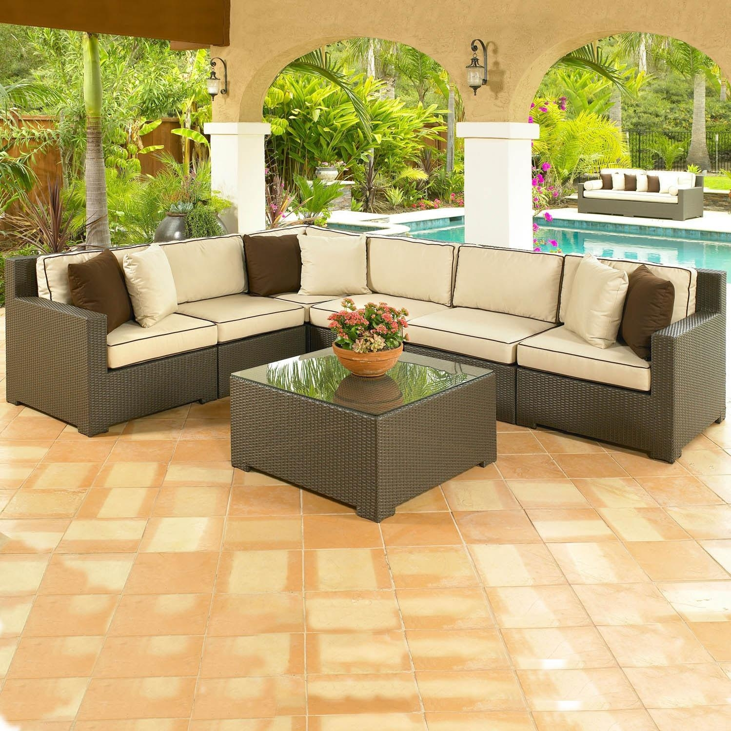 15 choices of cheap outdoor sectionals sofa ideas for Affordable patio furniture
