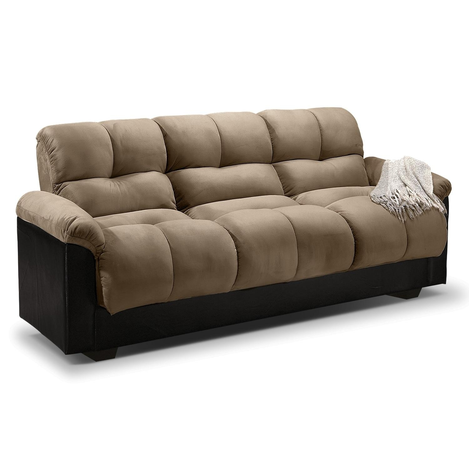 Ara Upholstery Futon Sofa Bed With Storage – Value City Furniture Intended For City Sofa Beds (Image 1 of 20)