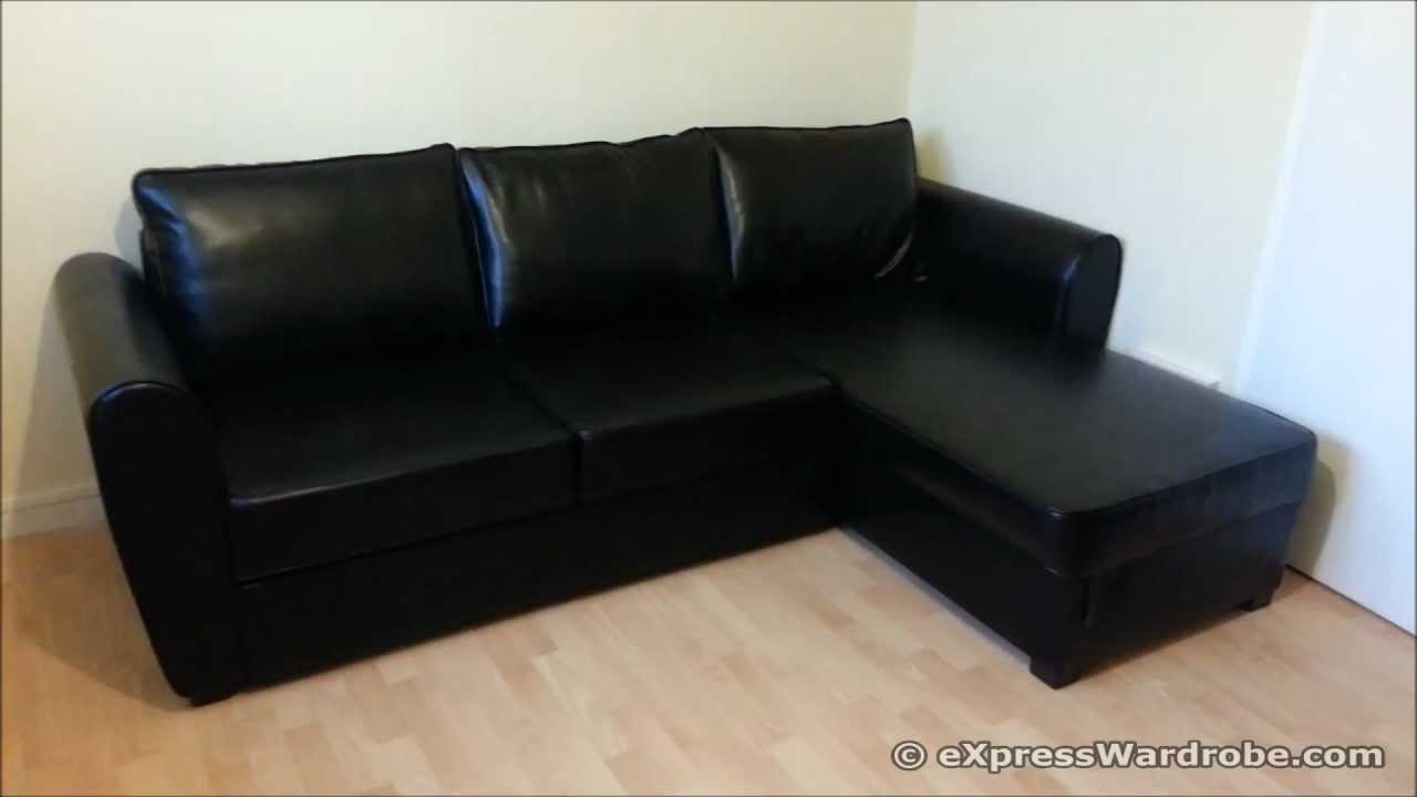 Argos Siena Corner Leather Effect Sofa Bed With Storage Design Intended For Leather Sofa Beds With Storage (Image 3 of 20)
