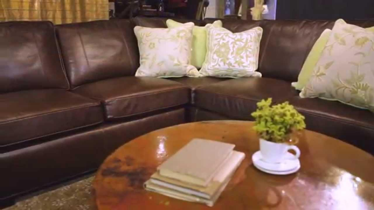 Arhaus | Upholstery | Brentwood Leather Sectional – Youtube In Arhaus Leather Sofas (Image 1 of 20)
