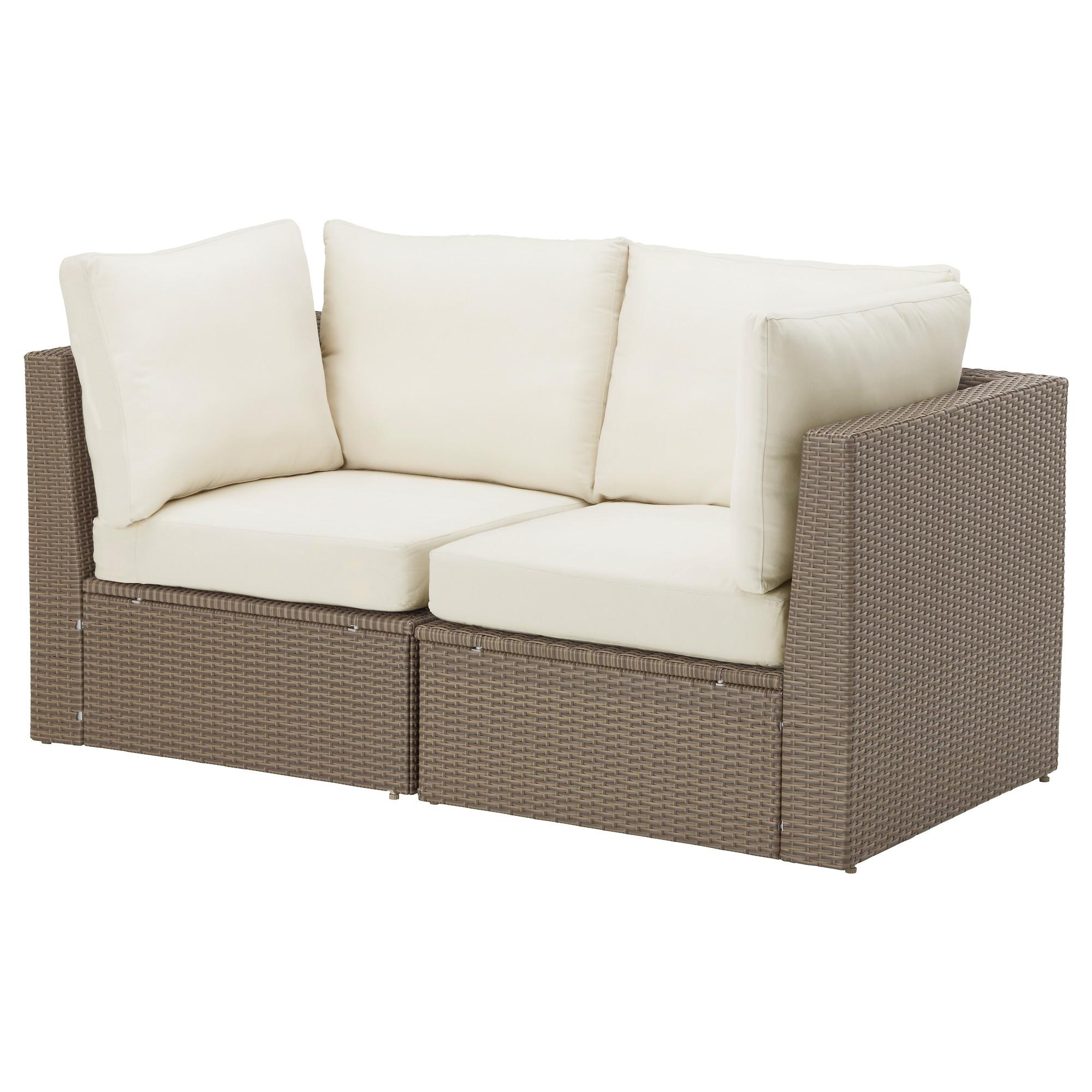 Arholma 2 Seat Sofa, Outdoor Brown/beige 152X76X66 Cm – Ikea With Sofa Chairs Ikea (Image 2 of 20)