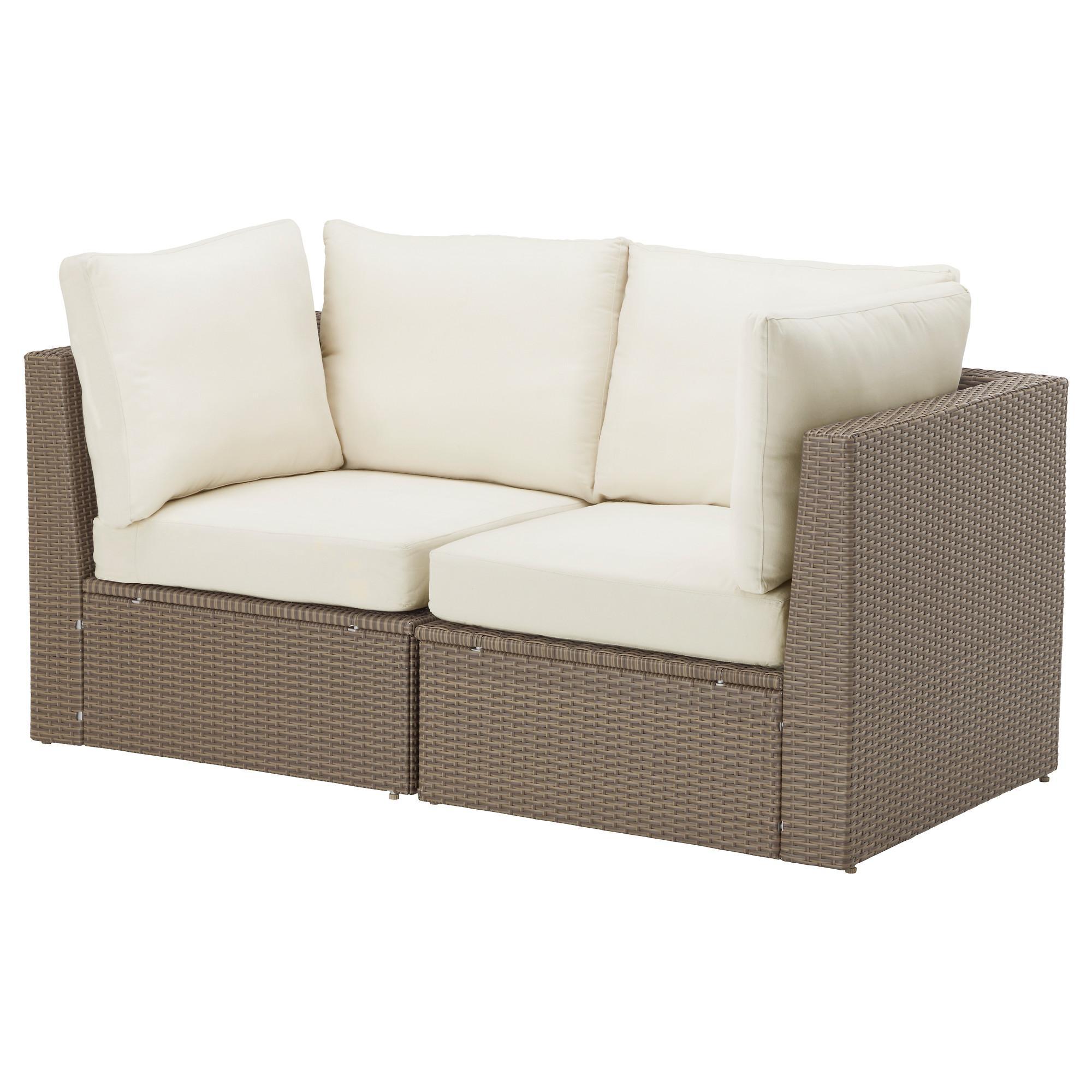Arholma 2 Seat Sofa, Outdoor Brown/beige 152X76X66 Cm – Ikea With Sofa Chairs Ikea (View 4 of 20)