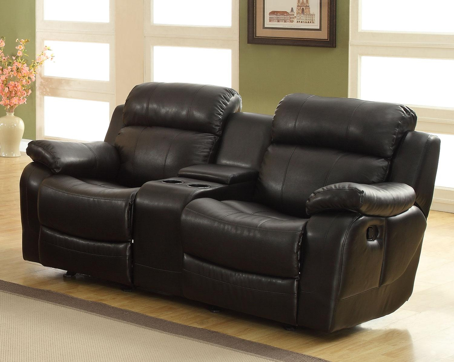 Arianna Black And White Bonded Leather Sofa And Loveseat Set For Black Leather Sofas And Loveseats (Image 1 of 20)