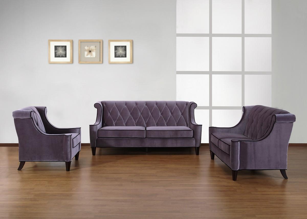 Armen Living Barrister Chair Gray Velvet – Black Piping Al For Barrister Velvet Sofas (View 4 of 20)