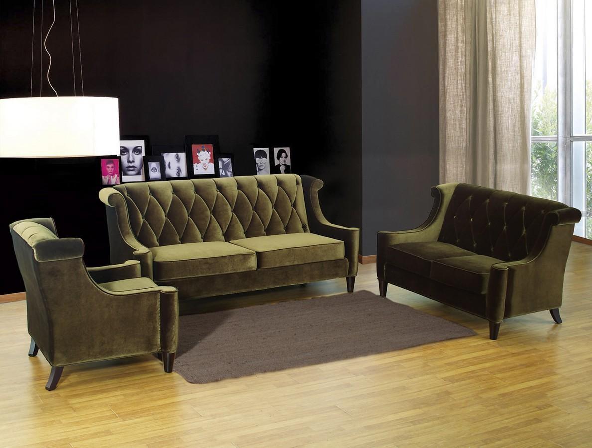 Armen Living Barrister Sofa Green Velvet Al Lc8443Green At Regarding Barrister Velvet Sofas (View 15 of 20)