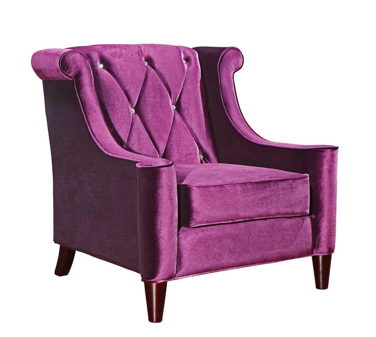 Armen Living Barrister Velvet Sofa Set – Purple Al Lc844Purple For Barrister Velvet Sofas (View 13 of 20)