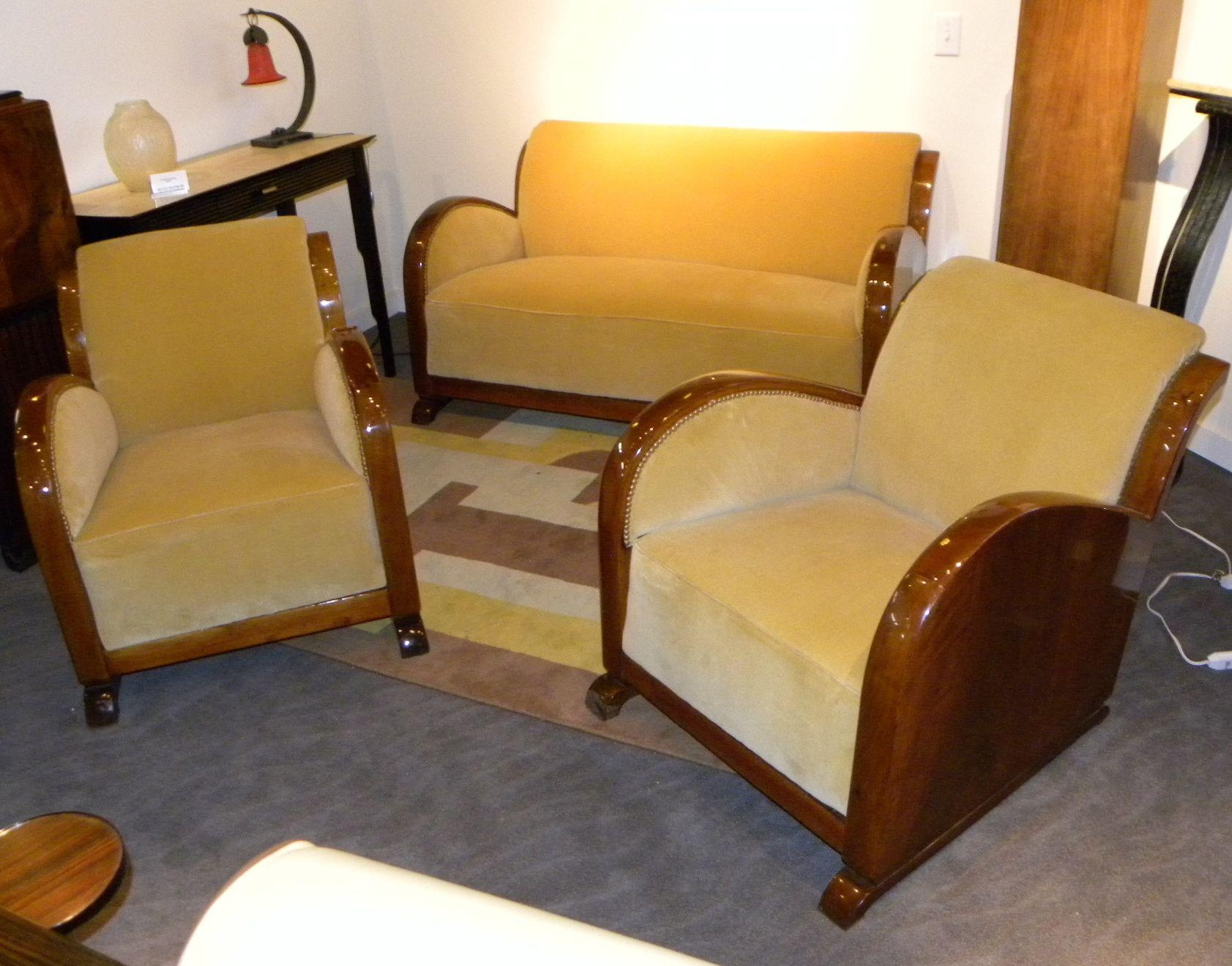 Art Deco Furniture Sold | Seating Items | Art Deco Collection Inside Art Deco Sofa And Chairs (View 2 of 20)