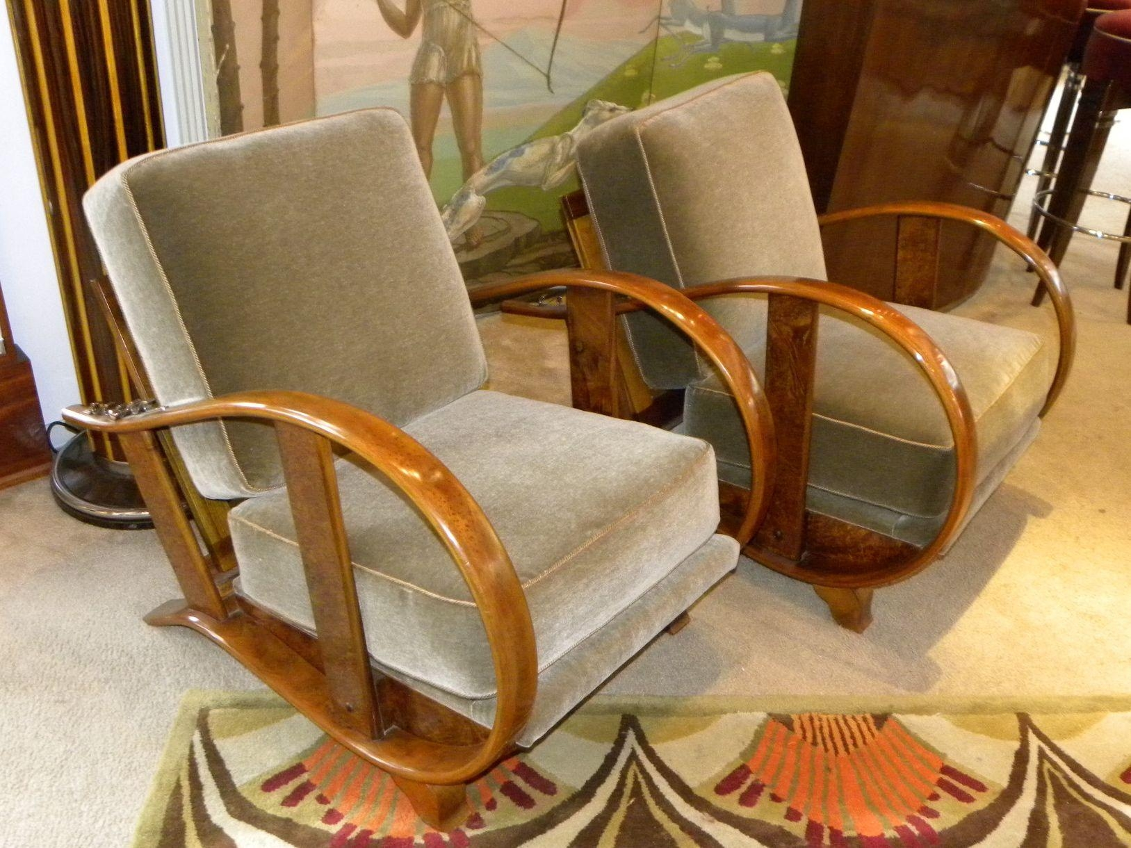 Art Deco Furniture Sold | Seating Items | Art Deco Collection Regarding Art Deco Sofa And Chairs (Image 10 of 20)
