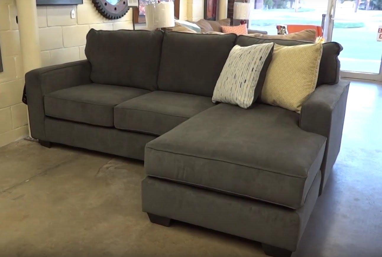 Ashley Furniture Hodan Marble Sofa Chaise 797 Review – Youtube Throughout Chaise Sofa Chairs (View 13 of 20)