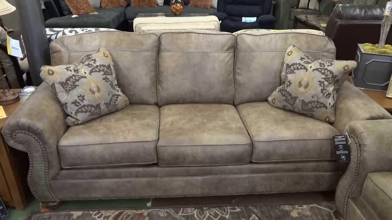 Ashley Furniture Larkinhurst Earth Couch & Loveseat Review – Youtube For Ashley Tufted Sofa (Image 2 of 20)