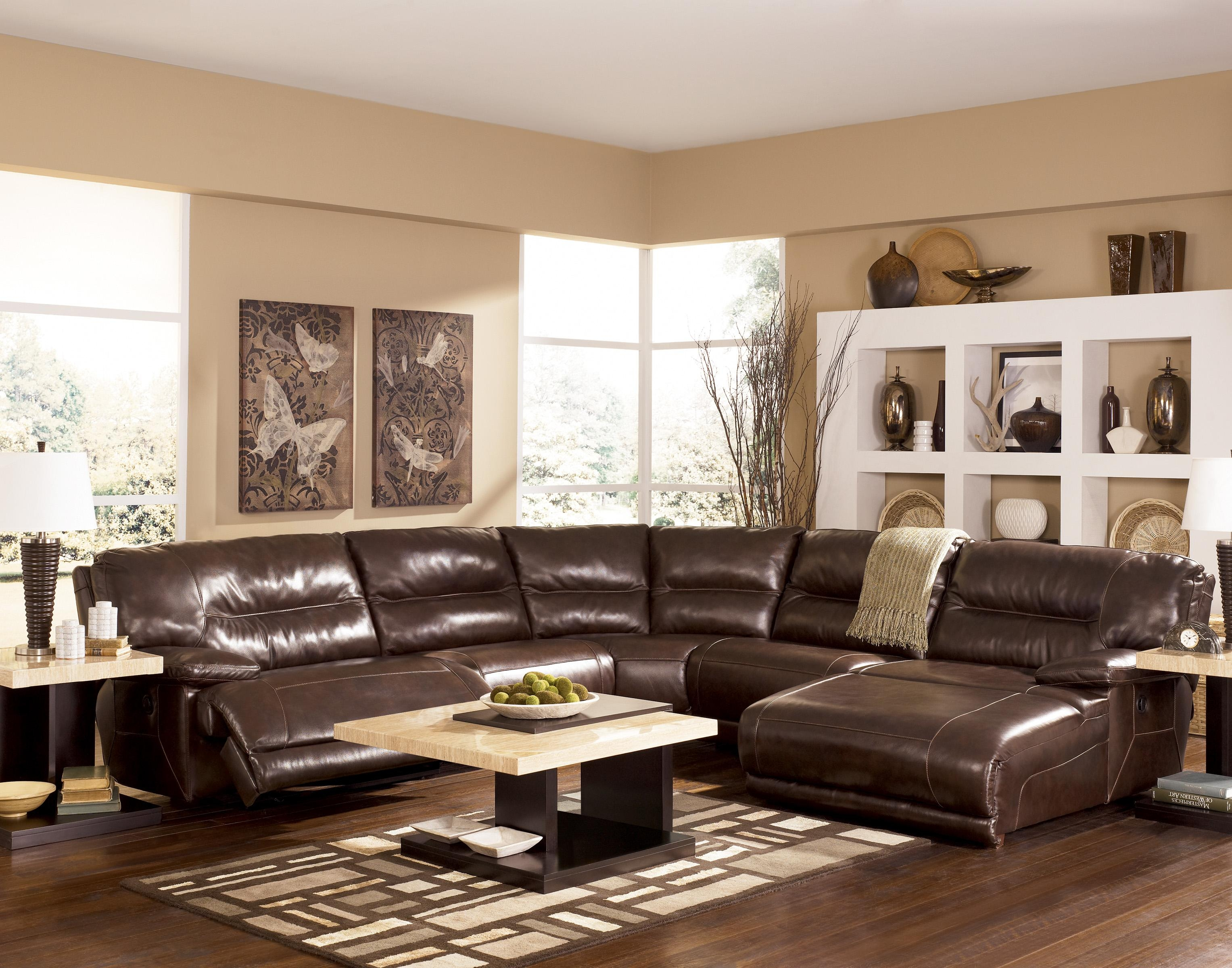 Ashley Furniture Leather Sectional Sofa 12 With Ashley Furniture Regarding Ashley Furniture Leather Sectional Sofas (View 15 of 20)