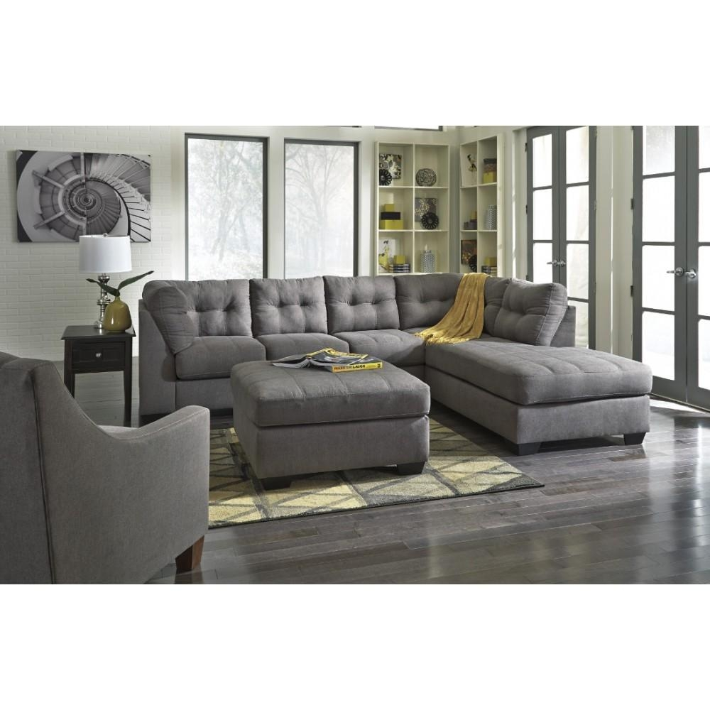Ashley Furniture Maier Sectional In Charcoal | Local Furniture Outlet Intended For Ashley Tufted Sofa (Image 3 of 20)