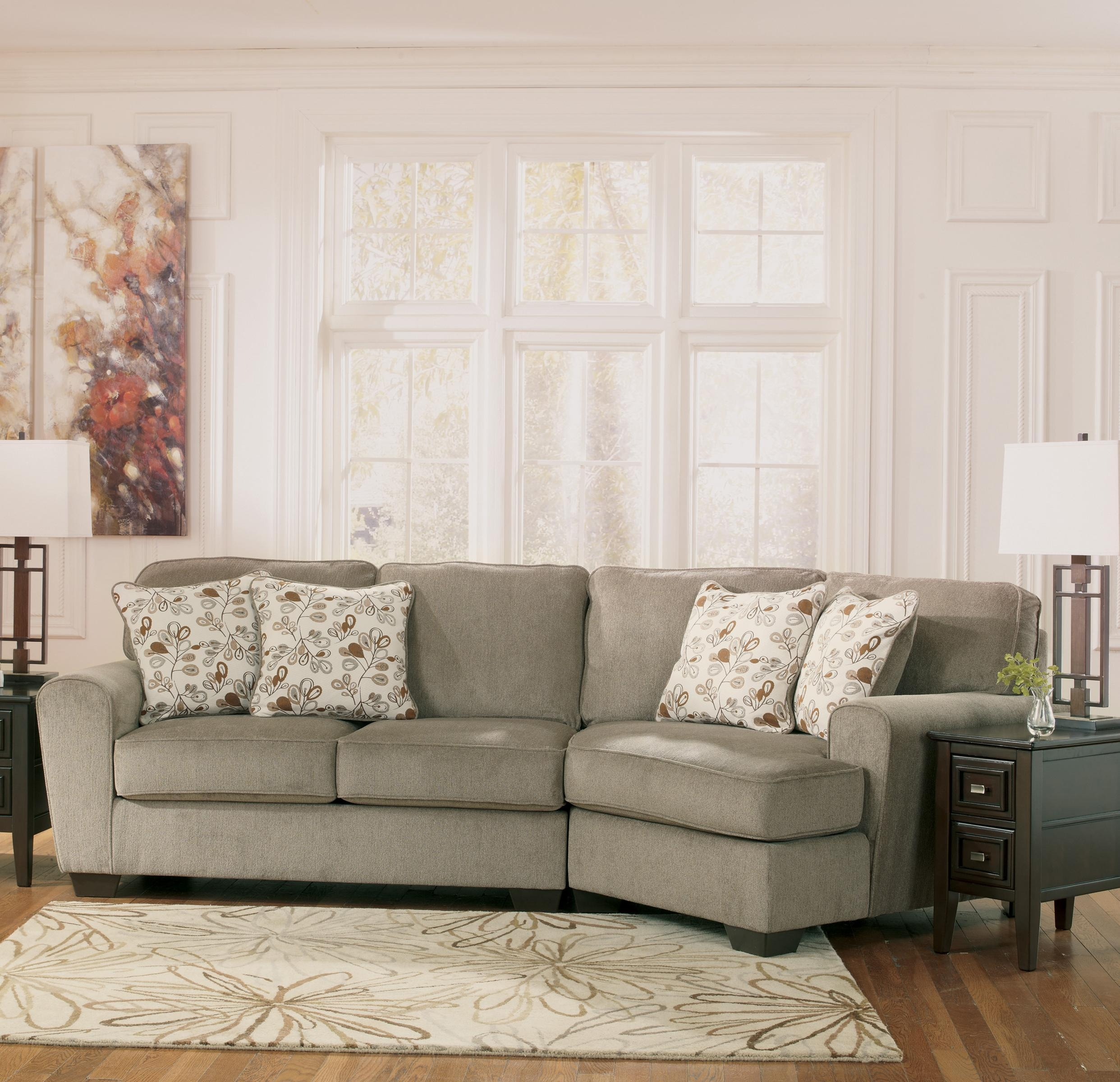 Ashley Furniture Patola Park – Patina 2 Piece Sectional With Right With Regard To Sectional Cuddler (View 11 of 20)