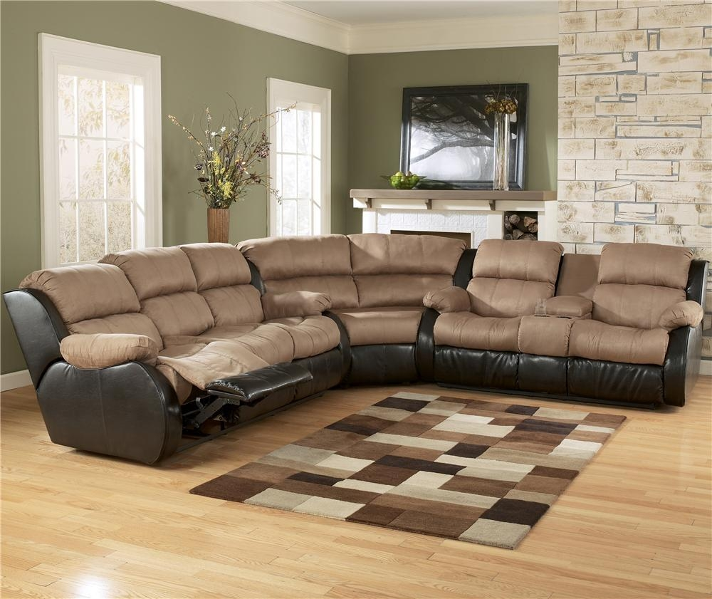 Ashley Furniture Presley – Cocoa 3 Piece Sectional Sofa With In Ashley Furniture Leather Sectional Sofas (Image 3 of 20)