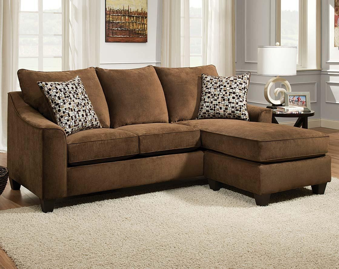 Ashley Furniture Sectional Couch. Brown Leather Sectional Couch Intended For Chocolate Brown Sectional With Chaise (Photo 12 of 15)