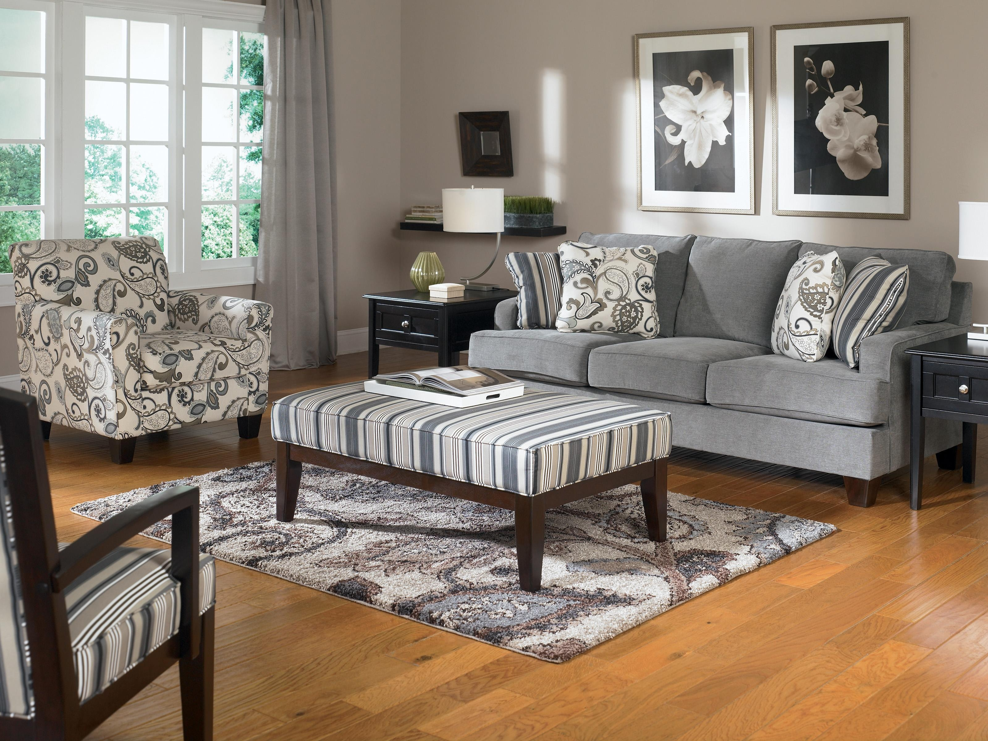 Ashley Furniture Yvette – Steel Accent Chair W/ Loose Seat Cushion Throughout Accent Sofa Chairs (View 8 of 20)