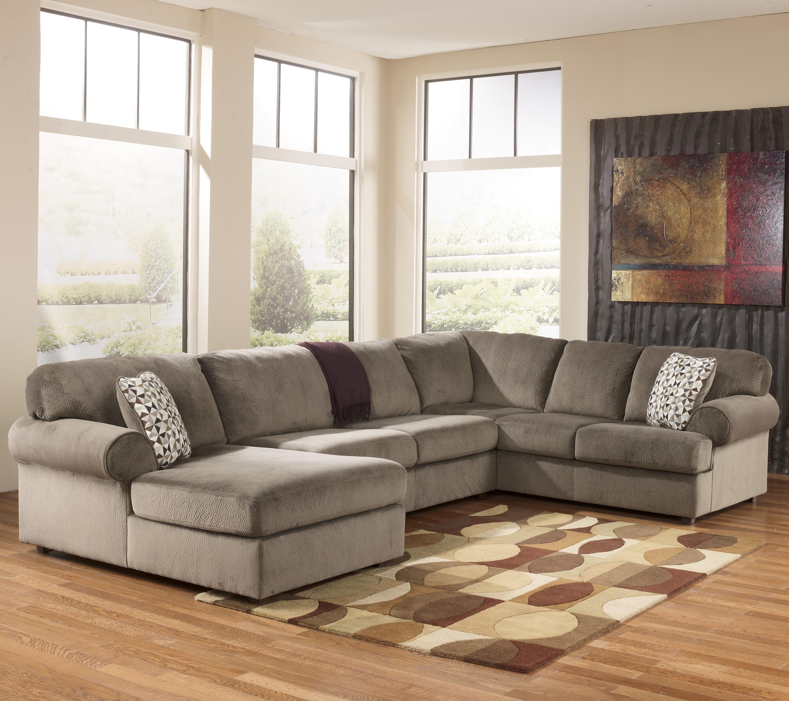 Ashley Signature Design Jessa Place – Dune Casual Sectional Sofa For Signature Design Sectional Sofas (Image 3 of 20)