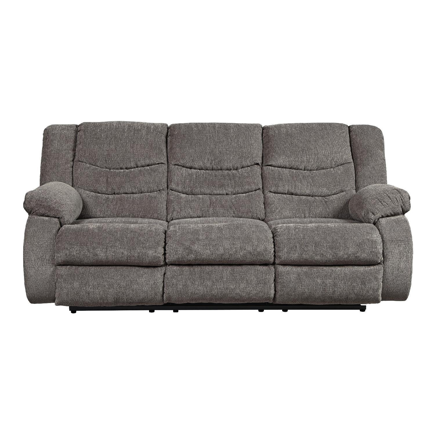 Ashley's Tulen Contemporary Reclining Sofa In Fabric – Aptdeco With Regard To Contemporary Fabric Sofas (Image 1 of 20)