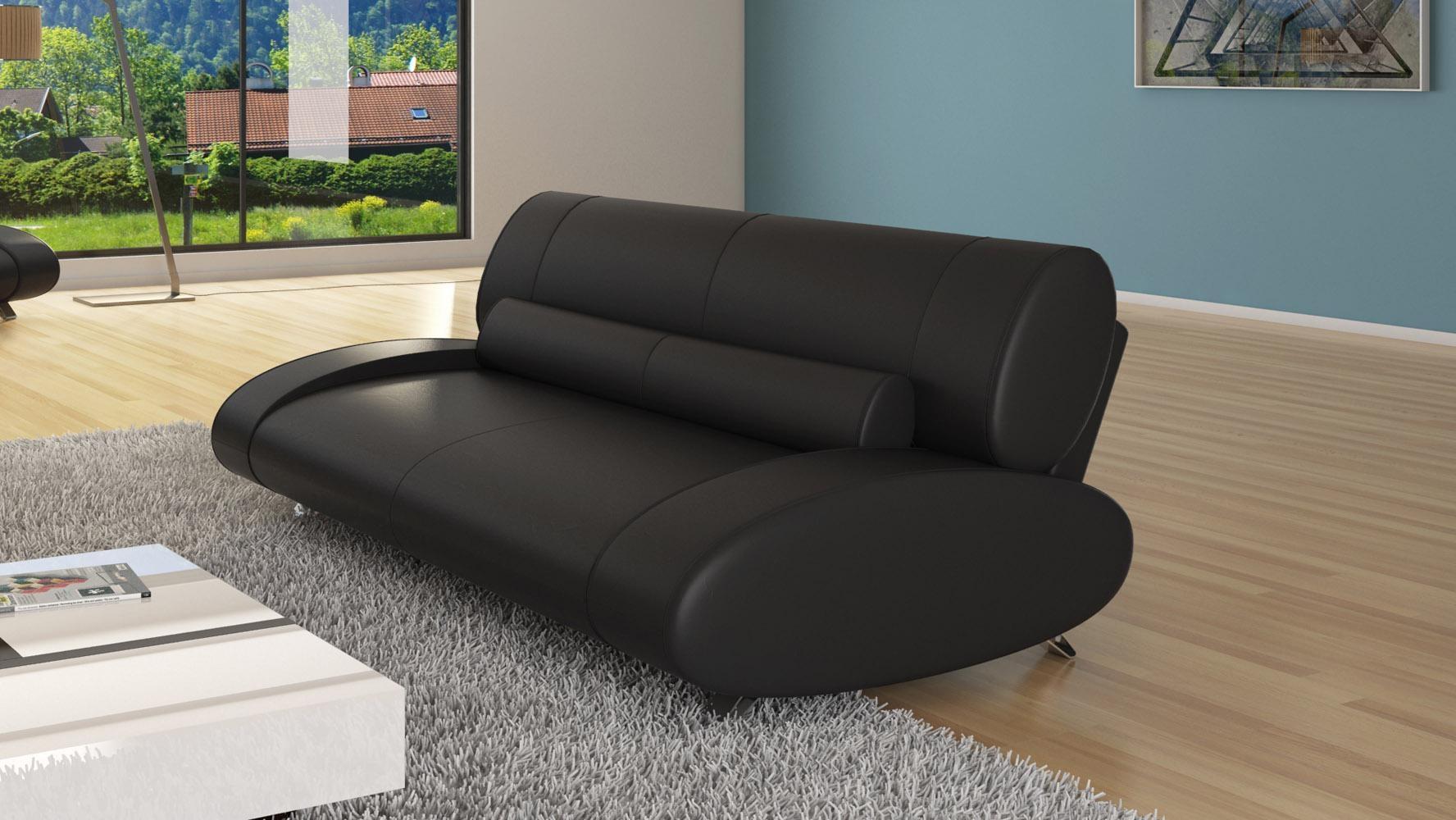 Aspen 3 Seater | Zuri Furniture Inside Aspen Leather Sofas (Image 2 of 20)