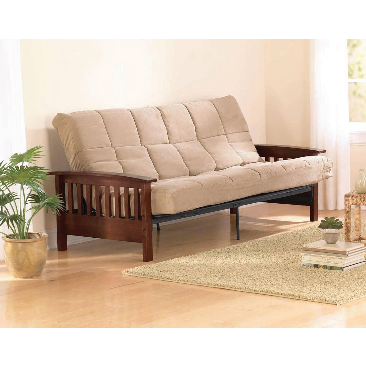 Atherton Home Taylor Convertible Futon Sofa Bed – Walmart With Regard To Convertible Futon Sofa Beds (Image 1 of 20)