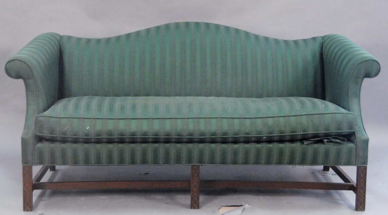 Auction Catalog – Nadeau's Auction Gallery Within Chippendale Camelback Sofas (Image 4 of 20)