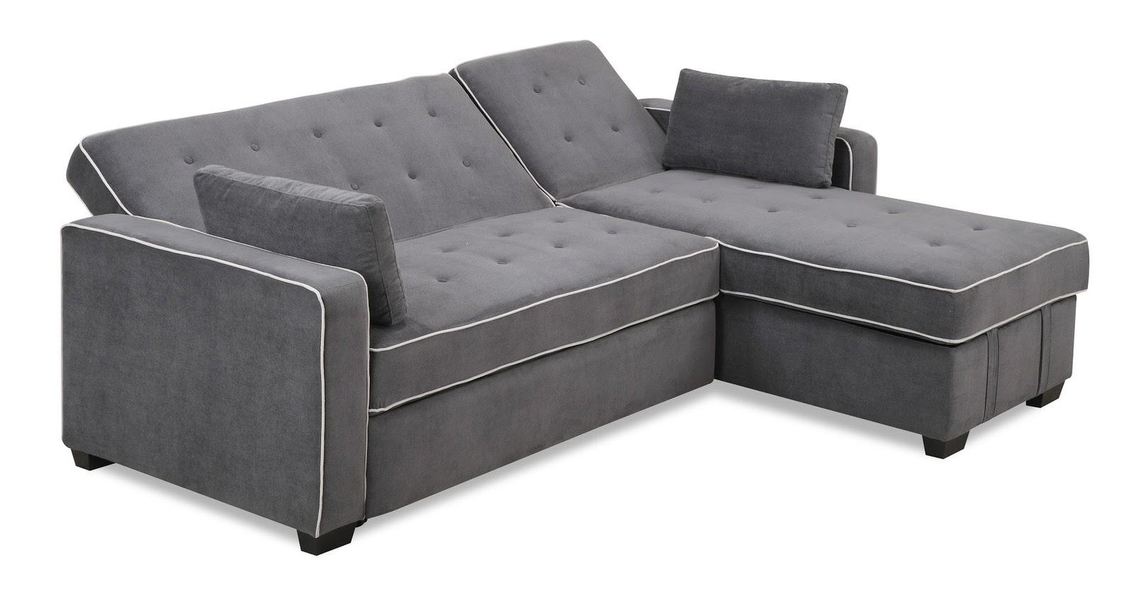 Augustine Sectional Moon Greyserta / Lifestyle For Serta Sectional (View 5 of 20)