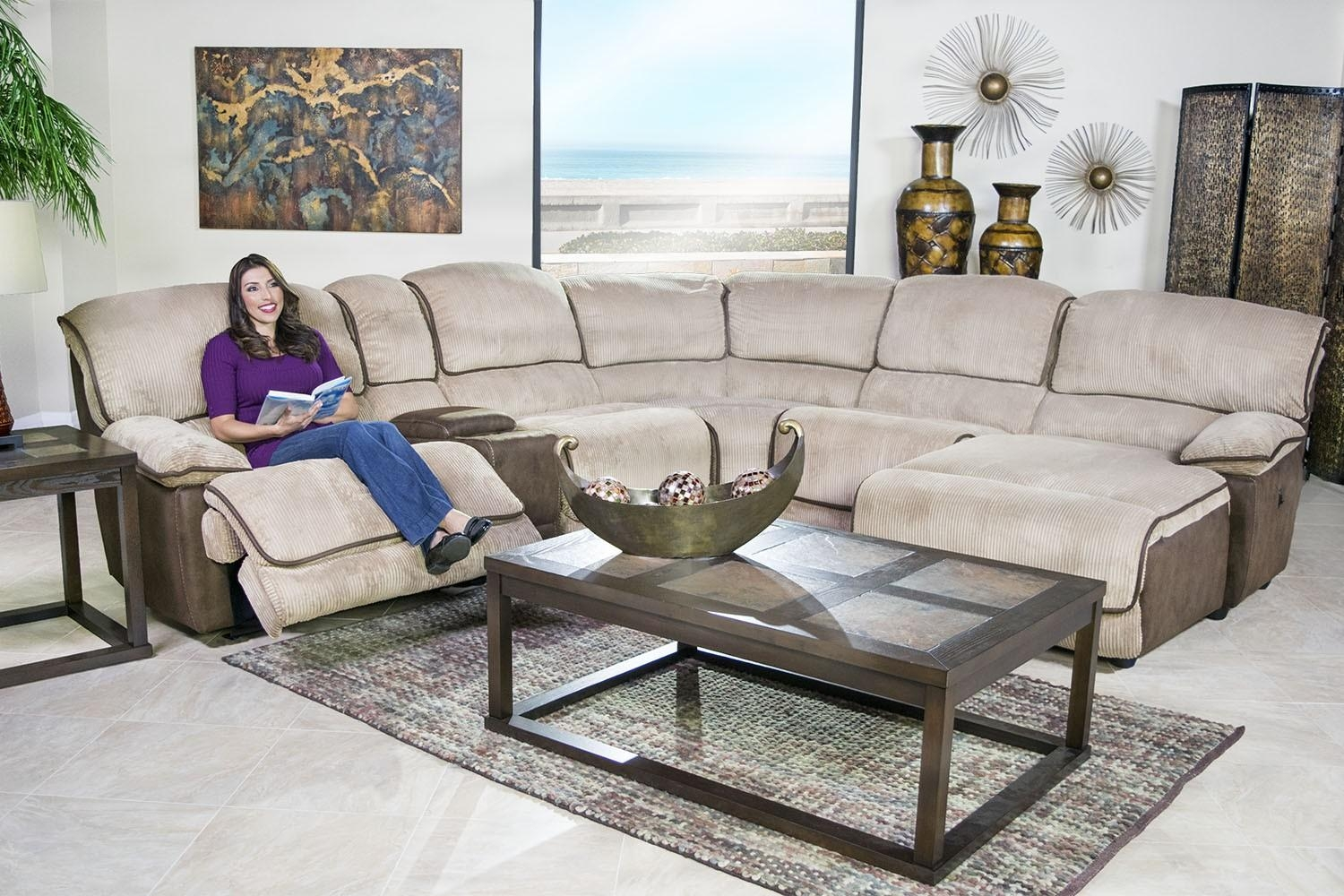 Austin Cafe 6 Piece Left Facing Chaise Sectional | Mor Furniture Pertaining To Austin Sectional Sofa (Image 2 of 15)