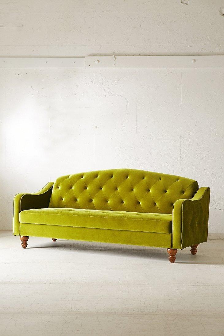 Ava Velvet Tufted Sleeper Sofa | Sleeper Sofas | Tehranmix Decoration With Regard To Ava Tufted Sleeper Sofas (View 3 of 20)