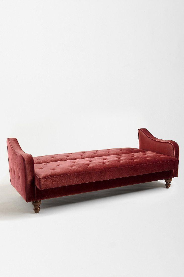 Ava Velvet Tufted Sleeper Sofa | Sofa Gallery | Kengire In Ava Tufted Sleeper Sofas (Image 4 of 20)