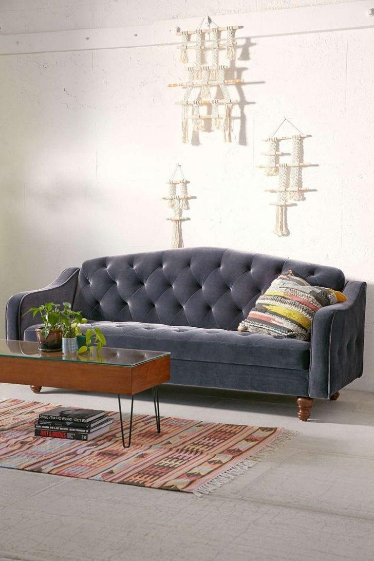 Ava Velvet Tufted Sleeper Sofa | Sofa Gallery | Kengire Throughout Tufted Sleeper Sofas (Image 3 of 20)