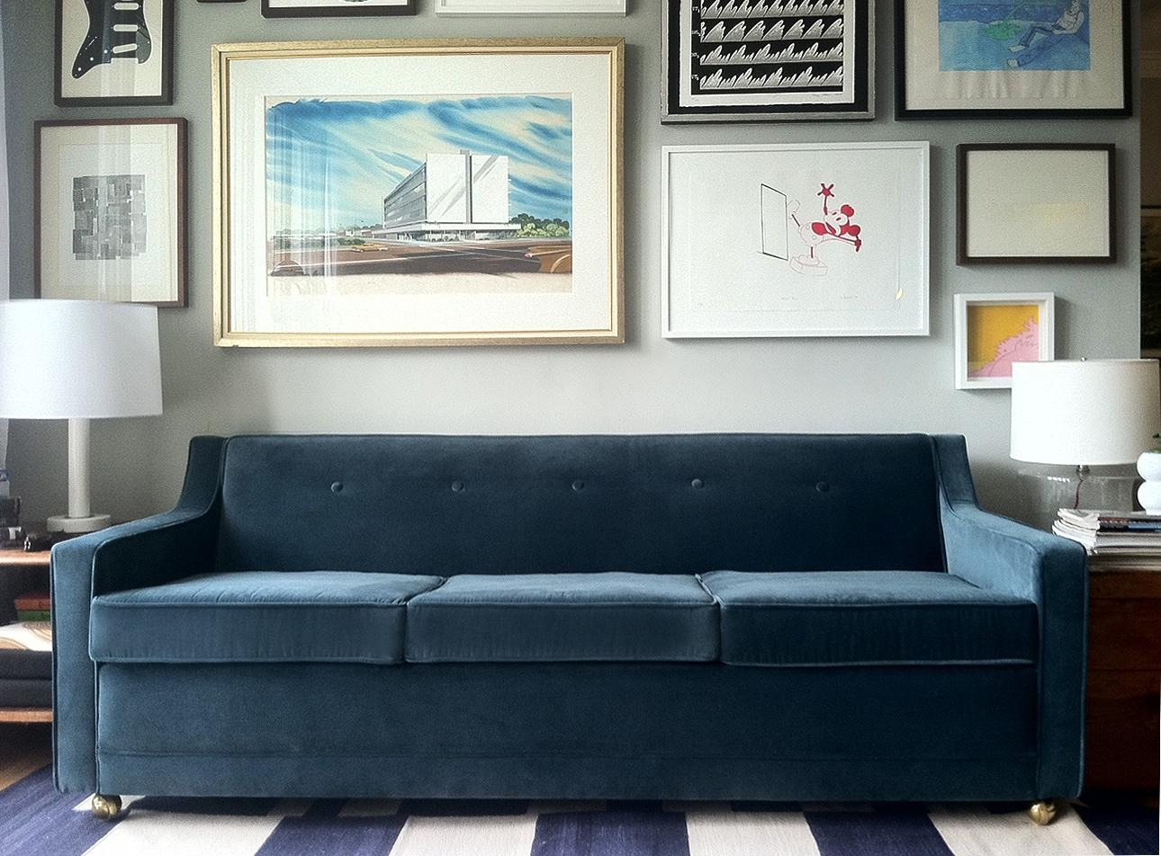 Awesome Blue Velvet Sofa — Home Design Stylinghome Design Styling In Awesome Sofa (View 14 of 20)