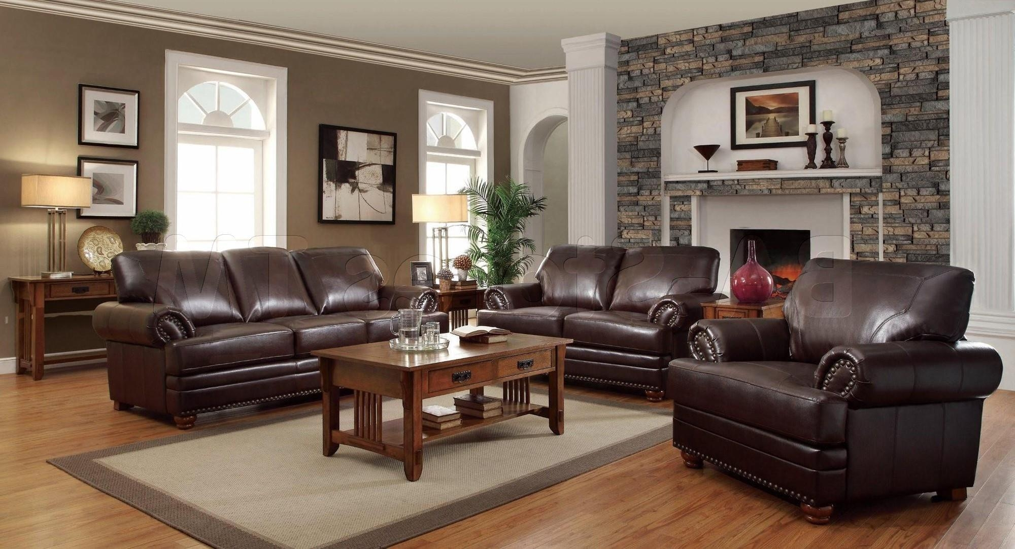 Awesome Decorating Ideas For Living Rooms With Brown Leather Pertaining To Living Room With Brown Sofas (Image 3 of 20)