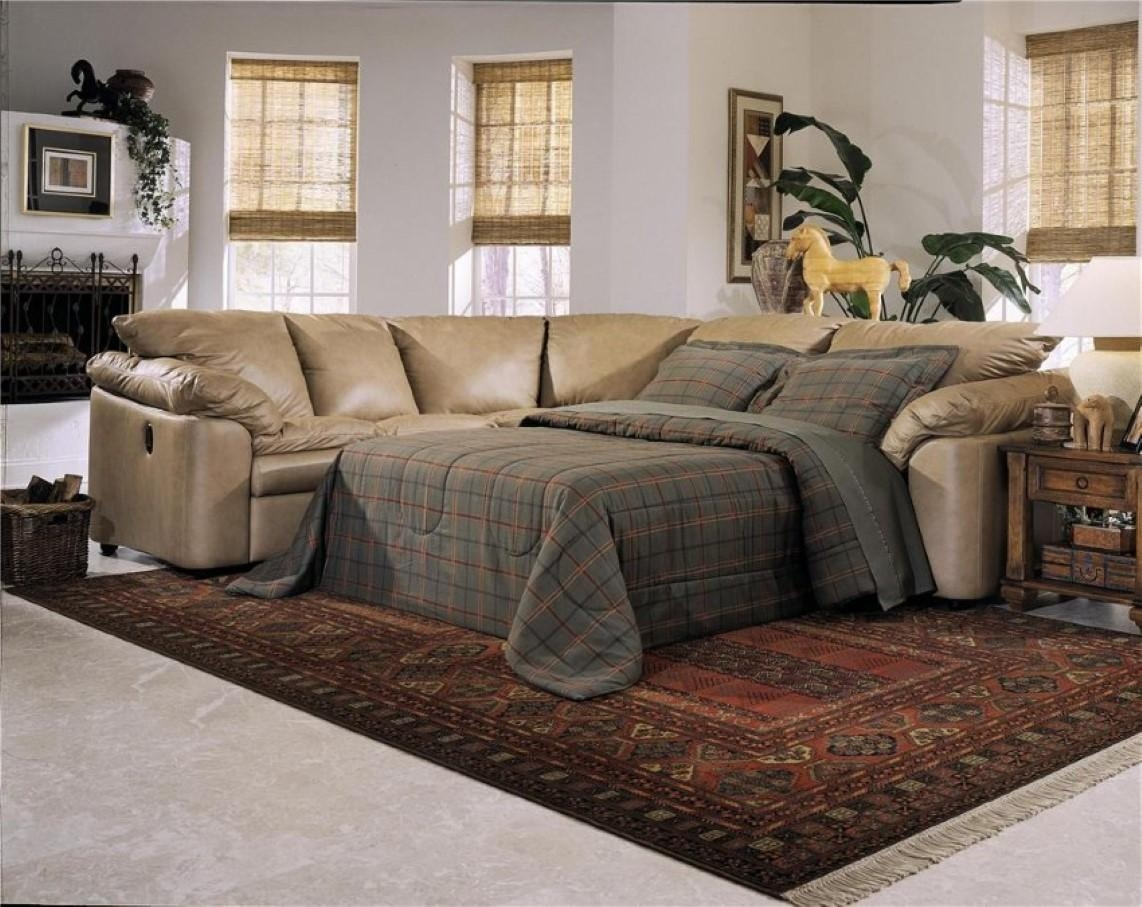 Awesome Leather Sectional Sleeper Sofa Recliner 80 On Flexsteel Within Everyday Sleeper Sofas (Image 3 of 20)