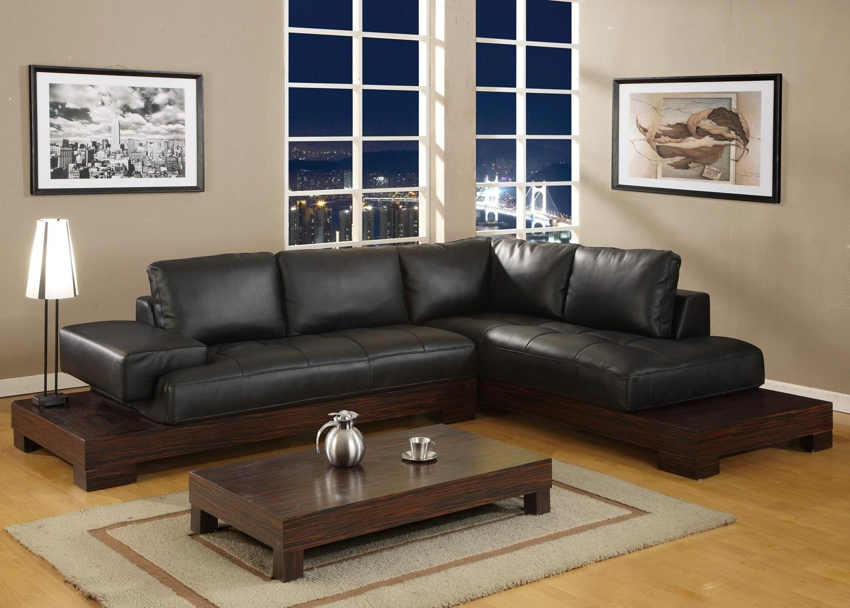 Awesome Living Room Ideas Black Leather Sofa | Greenvirals Style For Black Sofas For Living Room (View 4 of 20)